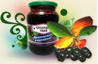 Черноплодная рябина протертая с сахаром